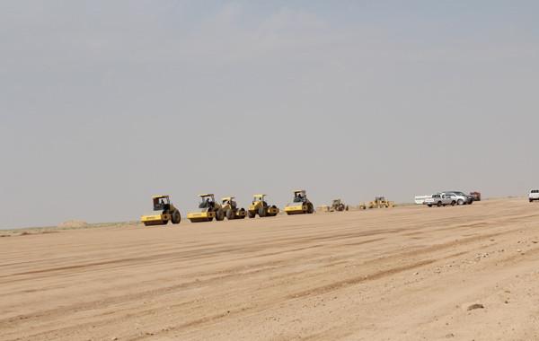 مشروع ازدواج طريق البجادية / الدوادمي بمنطقة الرياض